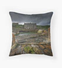 Keiss Harbour, Caithness, Scotland Throw Pillow
