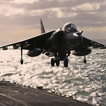 Harrier landing by captureasecond