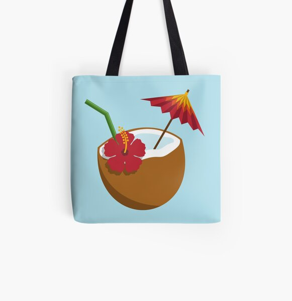 Coconut Cocktail All Over Print Tote Bag