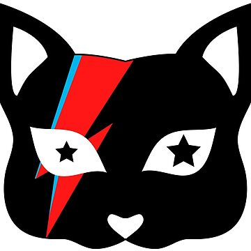 Bowie Cat Black by AliceChaine