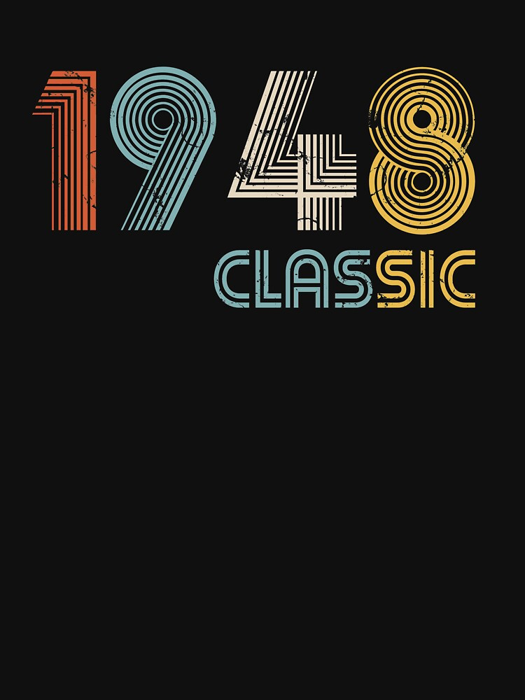 1948 classic 70 years old birthday by hsco