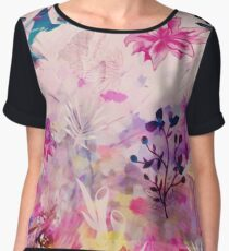 Watercolor Flowery - Day Dreaming Chiffon Top