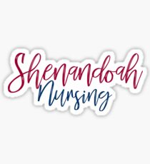 Shenandoah University Nursing Sticker