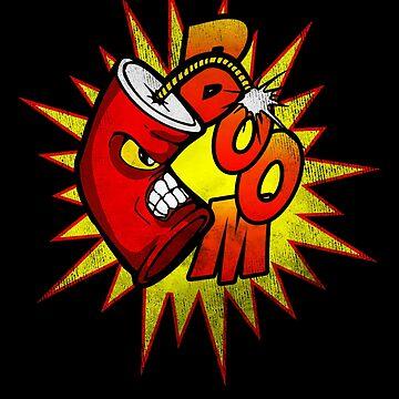 Boom, Dynamite Drop The Mic, Cartoon Explosion by gorillamerch