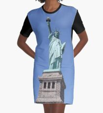 New York, Statue of Liberty, #NewYork, #StatueOfLiberty, #New, #York, #Statue, #Liberty Graphic T-Shirt Dress