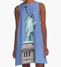 New York, Statue of Liberty, #NewYork, #StatueOfLiberty, #New, #York, #Statue, #Liberty A-Line Dress