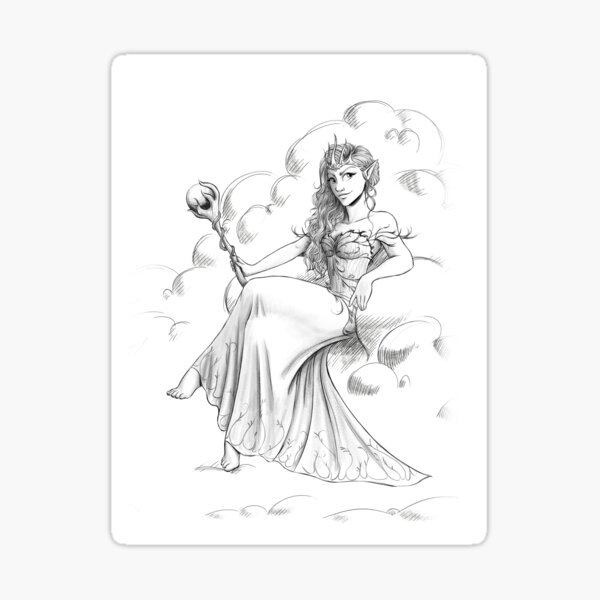 """Official illustration from """"Future Queen"""", Sorcha the Fairy Queen Sticker"""