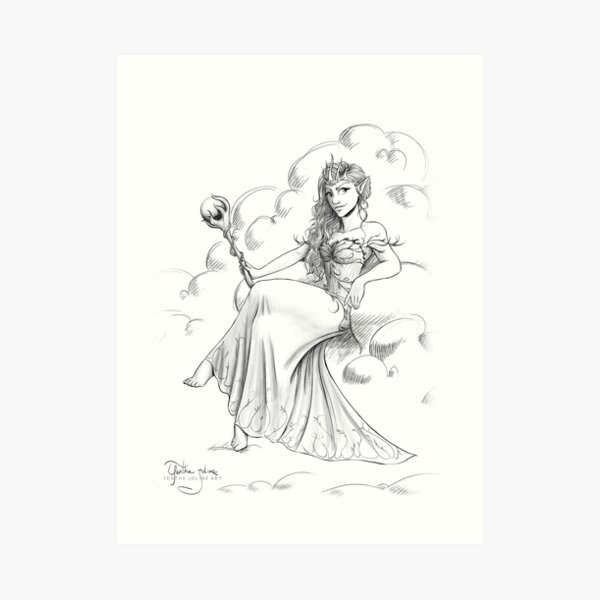 "Official illustration from ""Future Queen"", Sorcha the Fairy Queen Art Print"