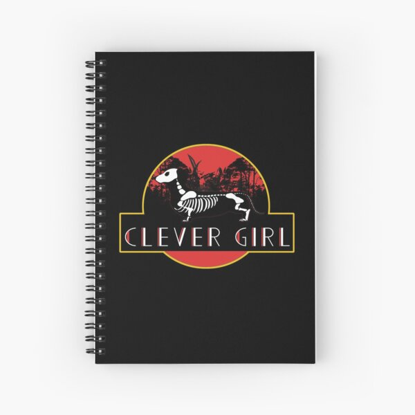 Clever Girl Dachshund Spiral Notebook