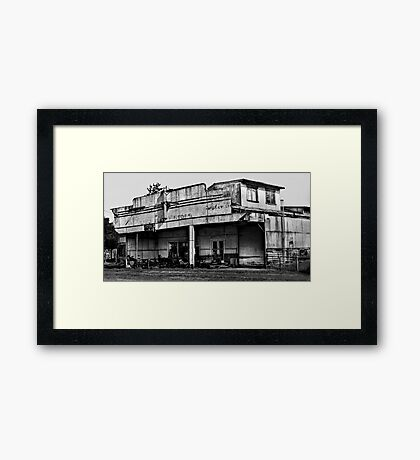 Long Flat Motors - NSW - Australia Framed Print