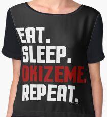 Okizeme by Eye Voodoo - Eat Sleep Repeat Chiffon Top