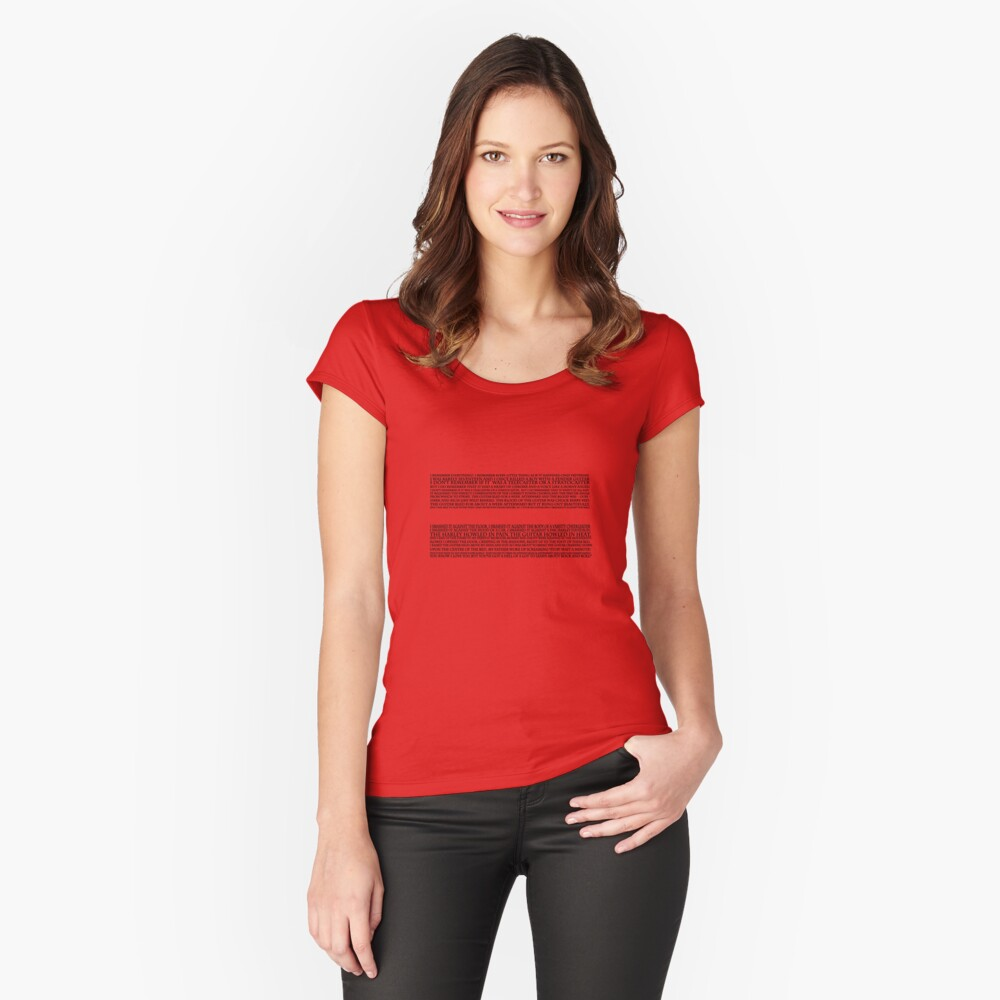 Strat monologue  Fitted Scoop T-Shirt