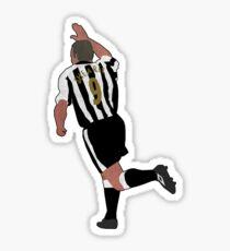 Shearer 9 Raised Arm Celebration Sticker