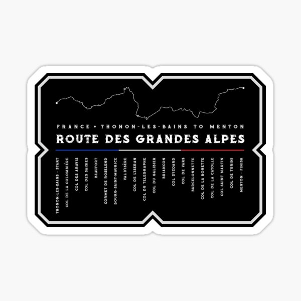 Route des Grandes Alpes France 2018 Design Sticker