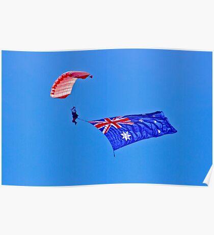 Flag Under Canopy - SYDNEY - AUSTRALIA Poster