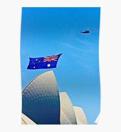 Australia Day Sails - Sydney Opera House Poster