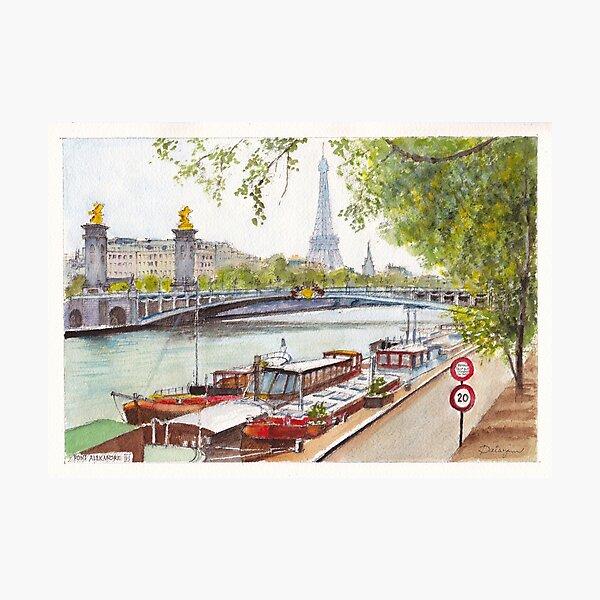 Seine Barges Photographic Print