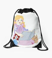 Bunnies and Books Drawstring Bag