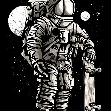 Skateboarding Spaceman! Space Race by ThatMerchStore