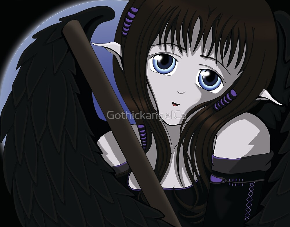 Gothic Angel with Sheathed sword by GothickangelCa