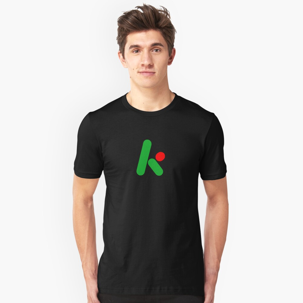 2D version of The Krypton Factor logo Slim Fit T-Shirt