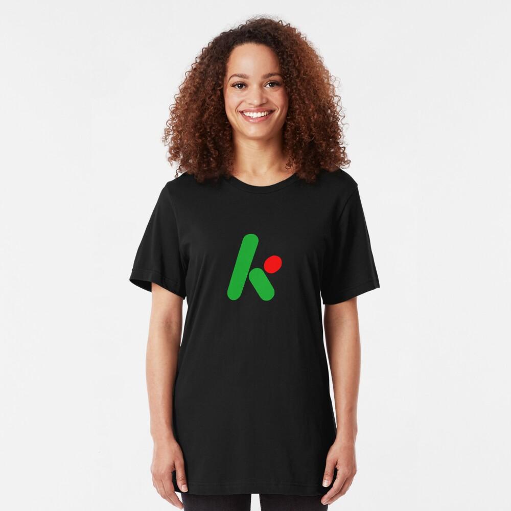 2D version of The Krypton Factor logo Slim Fit T-Shirt