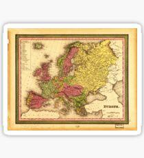Map of Europe (1849) Sticker