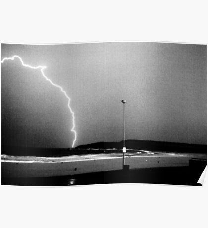 Beached Lightning - Sydney - NSW - Australia Poster