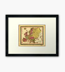 Map of Europe (1849) Framed Print