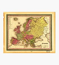 Map of Europe (1849) Photographic Print