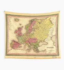 Map of Europe (1849) Wall Tapestry