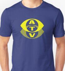 Retro TV ATV in a bright yellow Unisex T-Shirt