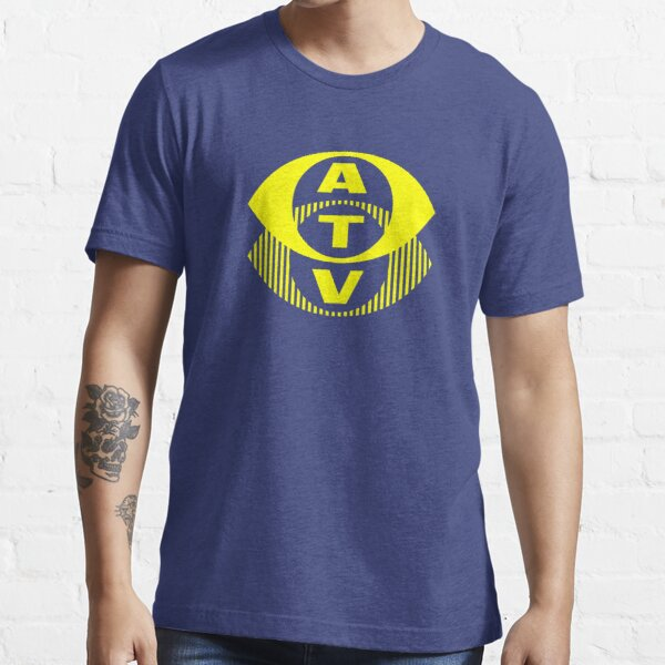 Retro TV ATV in a bright yellow Essential T-Shirt