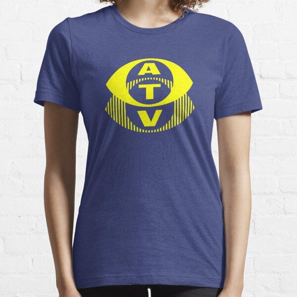 Retro TV ATV in a bright yellow Essential T-Shirt