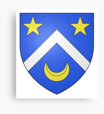 French France Coat of Arms 13414 Blason ville fr Le Mesnil Manche Canvas Print