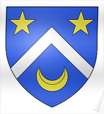 French France Coat of Arms 13414 Blason ville fr Le Mesnil Manche Poster