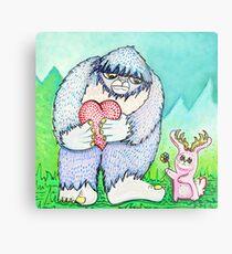 The Bigfoot and The Jackalope Metal Print