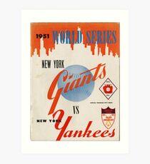 Yankees- retro Art Print