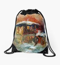 A Quiet Evening At Home Drawstring Bag