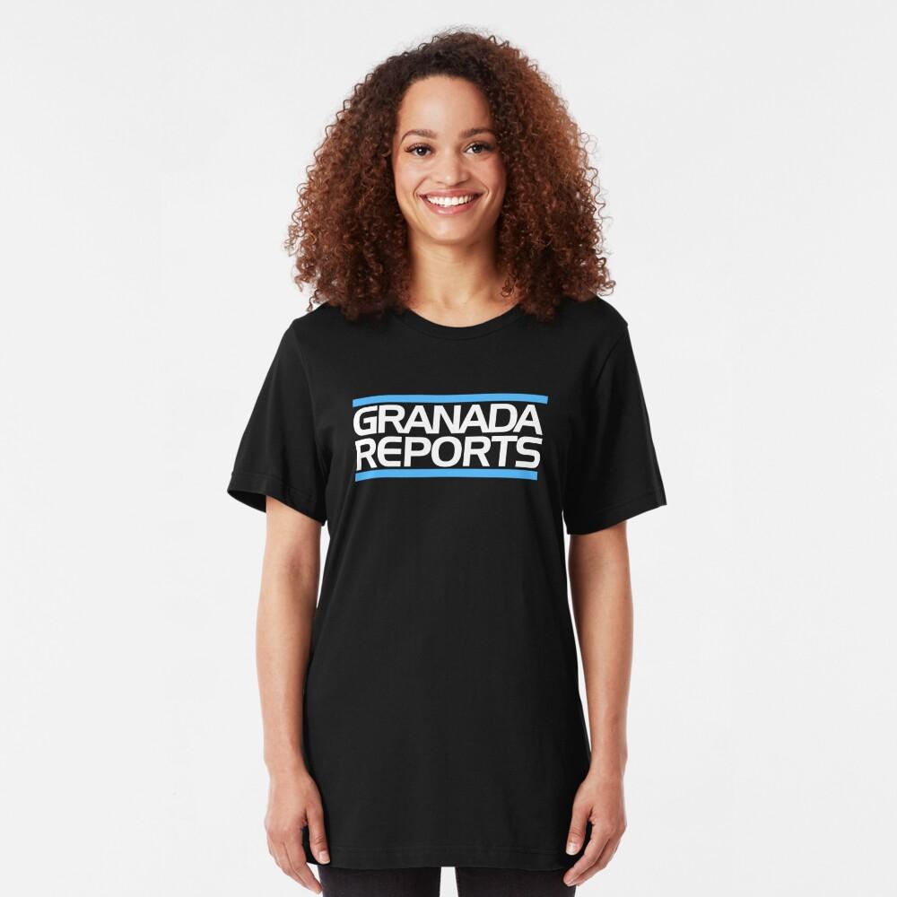 Granada Reports logo 1984-ish Slim Fit T-Shirt