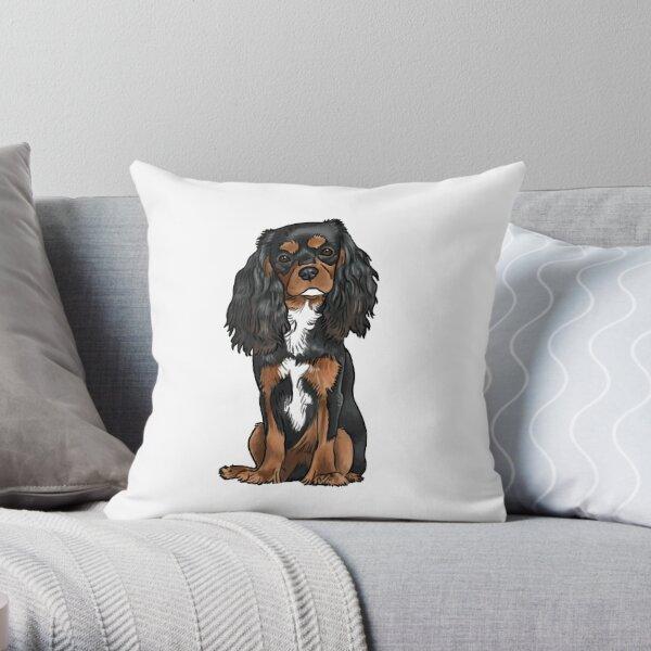 Cavalier King Charles Spaniel - Black and Tan Throw Pillow