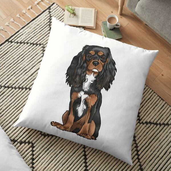 Cavalier King Charles Spaniel - Black and Tan Floor Pillow