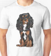Cavalier King Charles Spaniel - Black and Tan Unisex T-Shirt