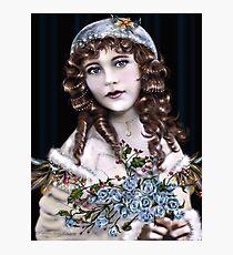 Little Brunette Head Girl Photographic Print