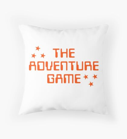 The Adventure Game title Throw Pillow