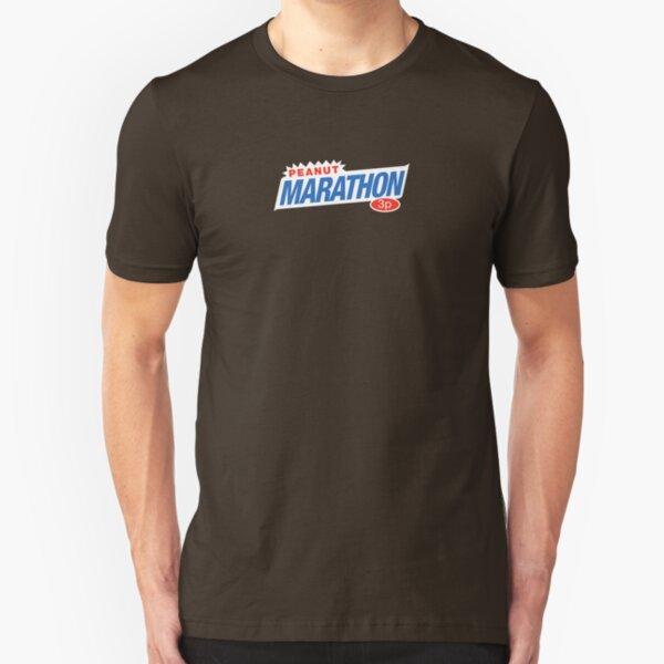 Retro Marathon (not Snickers, kids) chocolate bar logo: only 3p Slim Fit T-Shirt