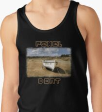 PIXEL BOAT with nice pixel font Tank Top