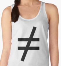 Inequality Symbol,  Math, #Inequality, #Symbol,  #Math, #InequalitySymbol,  #MathSymbol,  #InequalityMathSymbol Women's Tank Top