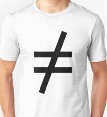 Inequality Symbol,  Math, #Inequality, #Symbol,  #Math, #InequalitySymbol,  #MathSymbol,  #InequalityMathSymbol Unisex T-Shirt
