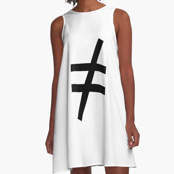 Inequality Symbol,  Math, #Inequality, #Symbol,  #Math, #InequalitySymbol,  #MathSymbol,  #InequalityMathSymbol A-Line Dress